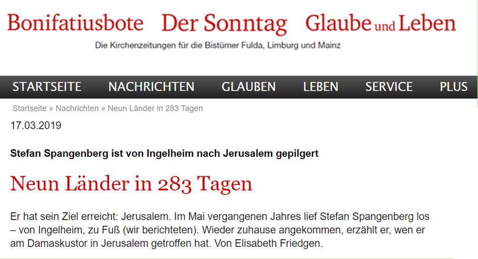 Kirchenzeitung berichtet über Stefan Spangenberg