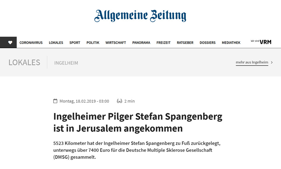 Redner Stefan Spangenberg in der Mainzer Allgemeine Zeitung