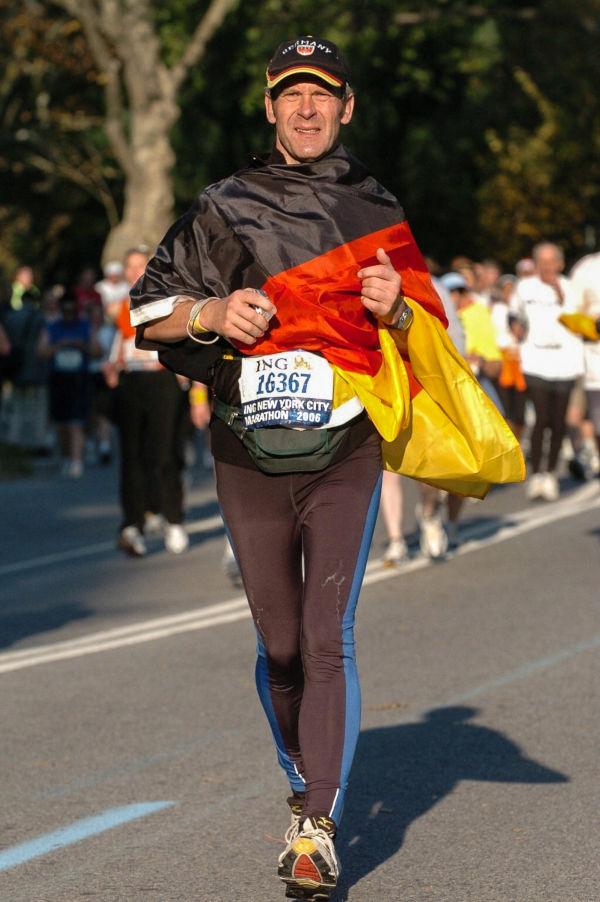 Stefan Spangenberg beim Marathon in Manhattan