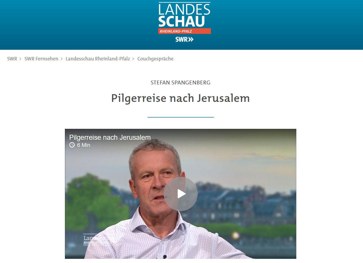 Stefan Spangenberg im SWR-Fernsehen