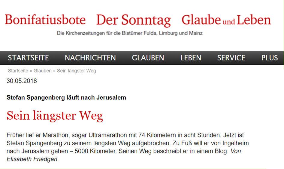 Stefan Spangenberg in der Kirchenzeitung