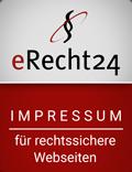 eRecht24 Impressumsiegel für Kunden